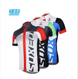 Wholesale-2015 ARSUXEO Men Cycling Jersey Bike Bicycle Short Sleeves Jersey Mountaion Clothing MTB Jersey Shirts
