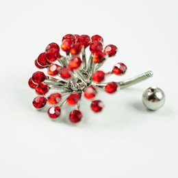 D0329 ( 3 colors ) Mix colors Sun-flower Belly Button ring Navel Rings Body Piercing Jewelry Dangle Accessories Fashion Charm 10PCS