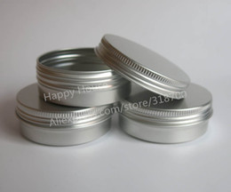 Wholesale x g aluminum jar metal jar for cream powder gel use oz cosmetic bottles ml aluminum container