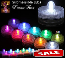 Submersible candle Underwater Flameless LED Tealights Waterproof electronic candles lights Wedding Birthday Party Xmas Decorative 7 colors