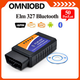 Wholesale 10PCS Auto Scanner Tool ElM327 BLUETOOTTH OBD OBD2 OBDii ELM V2 Support All IOS and Android