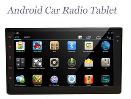 Wholesale D40 Pure Android Full Touch Car PC Tablet Double din Car Audio GPS Navi Car DVD Stereo Radio No TV Mp3 Player Bluetooth IPod Wifi