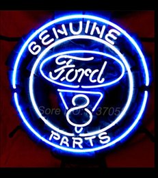 Wholesale American automobile Ford V8 Motor Company neon sign lighting quot x quot ME166 Avize Nikke Air Jordann Neon Sign Handicraft Glass