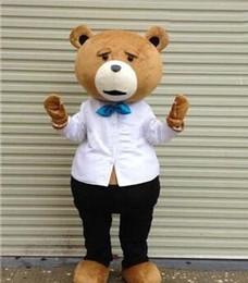 Wholesale 2015 brand new Deluxe Mascot Teddy bear cartoon garment bear cartoon costume doll props up performance