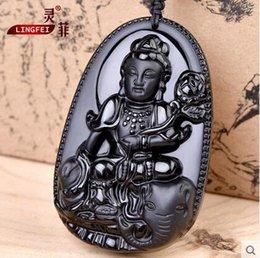 Wholesale Authentic Obsidian Samantabhadra Pendant Zodiac snake necklace and a patron saint of natal Buddha