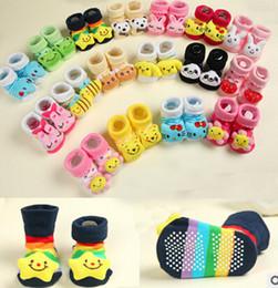 Wholesale Newborn anti slip floor socks baby fashion cotton socks lovely booties infant slipper socks pair