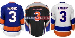 Factory Outlet, Wholesale New York Islanders Jesrey #3 Travis Hamonic Jersey Royal Blue White Third Black Stitched Hamonic Hockey Jerseys