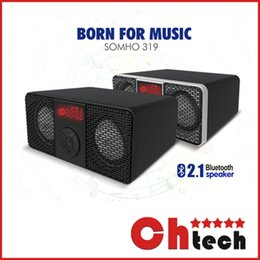 Wholesale SOMHO Retro S319 Bluetooth Mini Speaker Protable Wireless Stereo Music Sound Box Audio Super Bass NFC U DISK TF Slot With Retail package