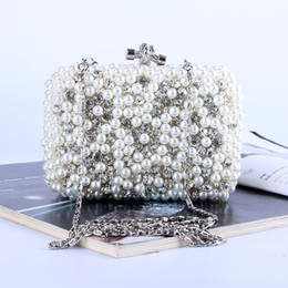 Factory Retaill Wholesale brand new handmade adorable beaded evening bag clutch with satin for wedding banquet party porm