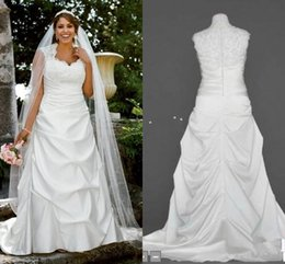 Free Shipping Plus Size Satin Wedding Dresses Cap Sleeve Scoop Neck Beads Sequins Lace Ruched Ruffles Bridal Gowns Custom Made W486