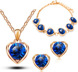 Cheap Fashion Jewelry Websites Heart Jewelry sets Delicate