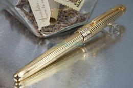 Trefilado de acero en Línea-MB-163 Super AAA Oficina Oficina Oficina de Calidad Golden Clip con Golden Steel Wire dibujo bolígrafo bolígrafo