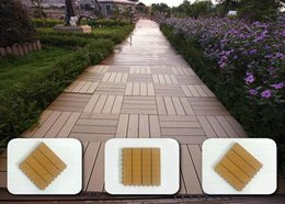 Wholesale The wood plastic material DIY Tile Decking yard swimming pool around pedal plank flooring
