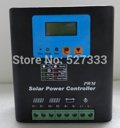 Wholesale PWM V A Solar Charge Controller Connect w Solar Panel Solar Dual input LCD Display Aluminum shell Good Heat Dissipation
