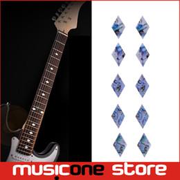 Guitar Bass Fret Sticker DIY sticker on guitar neck - 10 pcs rhombus shape MU1288-49