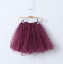 Faldas para las muchachas de los niños en venta-Primavera ahora Princesa Falda Niños Ropa Niñas púrpura rojo multicapa tutú Falda niños dulce TODOS Match falda A5794