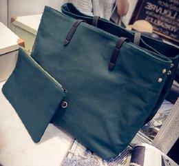 Wholesale Fashion women handbag canvas tote bag large soft female carrier bag cm length shoulder belt composite bag