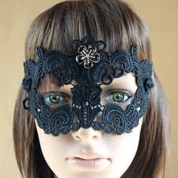 1PC Black Sexy Women Lace Mask Cutout Eye Mask for Masquerade Party Fancy Dress Costume WQ535