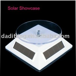 Wholesale Solar Rotating Display Stand Rotary Turn Table Plate Exhibition Stand Showcase For Phone Watch Jewelries