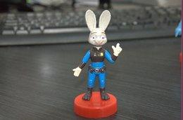 Zootopia 4~8CM Toys Movies Accessories Action Figures Cartoon Movie Animal Judy Rabbit PVC Dolls Best Kids Gifts 5 Animals lot