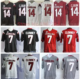 Factory Outlet- Cheap 14 Connor C.Shaw College Jersey South Carolina Gamecocks Football Jerseys American 7 Jadeveon Clowney Black Red Gray W