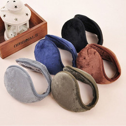 Wholesale-1 pcs 5 Color warm plush cloth Ear Muffs Winter Ear warmers Mens Women Fleece Warmer Earmuff free shipping