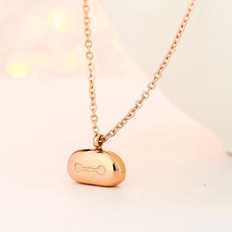Fashion bear pendant personality titanium steel dubai gold jewelry design china jewelry chain Pendant Necklace for women colgante, collar