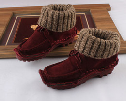 Wholesale-2015 autumn and winter full gain leather women boots genuine leather martin boots flat heel ankle boots cowhide female boots