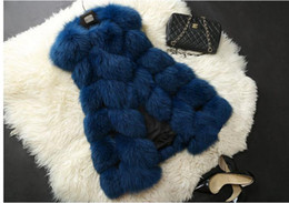 Desconto women s faux fur vest Tamanho novo do revestimento das mulheres de Shitsuke do laço do casaco de pele do falso de Cappa do revestimento de pele do falso das mulheres de 2015 do revestimento do inverno de Lisa Colly Novo: S-XXXXL