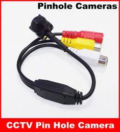 Descuento línea de hd Módulo de cámara 600TV Línea HD Tiny Mini CCTV Pin Hole con micrófono incorporado Envío Gratis