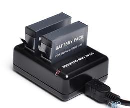 Cargador dual del USB del cargador de batería del héroe 4 de Gopro de la alta calidad para el envío libre 2 / set del cargador de batería del héroe 4 Gopro4 AHDBT-401 de Gopro cheap gopro usb desde usb gopro proveedores
