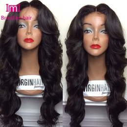 Wholesale 150 density no extra cost full lace wig body wave by Virgin Human Hair Full lace wig Lace Front Wig With Baby Hair