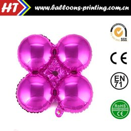 Wholesale 50pcs alumnum balloons Festival party supplies Cheap whole network Rose four column ball balloon arches business mall furnishing