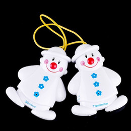 Wholesale Wireless Infant Baby Alarm Sleep Cry Detector Monitor Safe Call Watcher Reminder Lovely Snowman Design H4072
