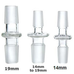 Wholesale 14mm or mm Straight Male to Male Glass Adapter glass Converter male joint glass dome adaptor mm mm