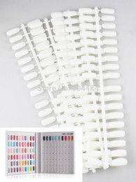 Wholesale Display Book Acrylic Flase Tips pack For UV Gel Nail Polish Showing Color Book Display Freeshipping