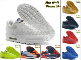 Discount Shoes Run Air Max @High quality@2015 new USA 90 Hyperfuse Prm American FLAG for men&women maxes Running Shoes With Air Cushion HYPs QS athletic shoes 36-46