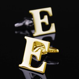 Best Christmas Gifts Gold E Letter Cufflink French Cufflink New Year Gifts