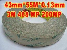 Gros- (43mm * 55M * 0.13mm d'épaisseur), Effacer électronique Attachment Thin Film Double adhésif Scotch Duct Tape pour Nameplate électrique Étiquette à partir de etiquette électronique fournisseurs