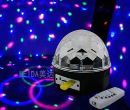 Hot selling laser stage light Auto Voice-activated LED Crystal Magic Ball Disco DJ Party Stage Light Lighting with MP3 Player