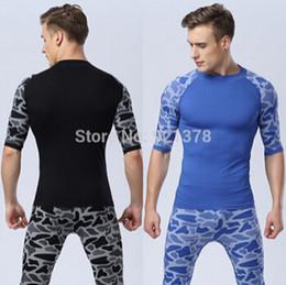 Hot sale men leopard print sport running short sleeve t shirt fitness men quick dry bodybuilding gym compression tights shirt
