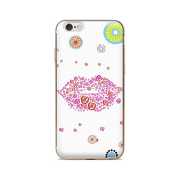 Wholesale For iPhone 4 4S 5 5S 5C 6 6S 6Plus Of Cartoon Lips Background Of Skin TPU Silicone Gel Protective Cover