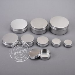 Wholesale ml Aluminium Balm Tins pot Jar g comestic containers with screw thread Lip Balm Gloss Candle Packaging