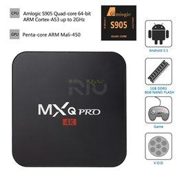 Wholesale Android TV Box MXQ Pro K S905 Updated Chipset Arabic IPTV Amlogic Quad Core G G HDMI WIFI K Kodi Full loaded