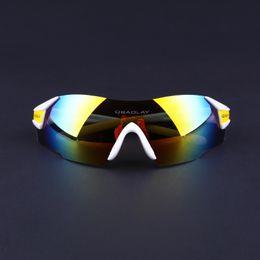 Sports Sunglasses - Men Women Polarized Sunglasses UV400 Cycling Rimless Sun glasses Fishing Running Mountain Bike Golf, White and Yellow