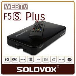 Wholesale New Original SOLOVOX F5S Plus p Full HD Satellite Receiver DVB Support USB Youpron CCCAM MGCAM NEWCAM Web TV