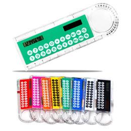multifonction 10 cm ultra-mince calculatrice de règle / solaire mode tactile loupe de la calculatrice et belle fournitures de bureau produits Z00363 à partir de bureau de la calculatrice fournisseurs