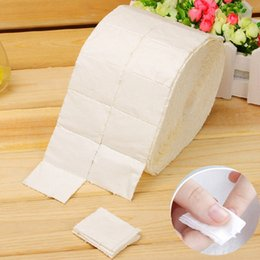 Wholesale-500Pcs Roll Cotton Wipes Pads Paper Nail Art Soak Off Gel Wraps Gel Polish Remover Cleaner Tool
