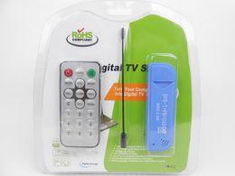 Wholesale USB Digital DVB T SDR DAB FM HDTV TV Tuner Receiver Stick RTL2832U R820T2 Antenna with Remote Control