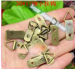 Wholesale 100pcs mm mm antique decoration wall hanger accessories Picture Hanger Photo Frames Wall Hangers